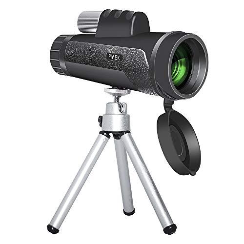 Monokulare Teleskope, 12x50 HD Zoom Monokular mit Smartphone-Adapter, wasserdicht staubdicht stoßfest für Wandern, Jagd, Camping, Vogelbeobachtung, Fußballspiel