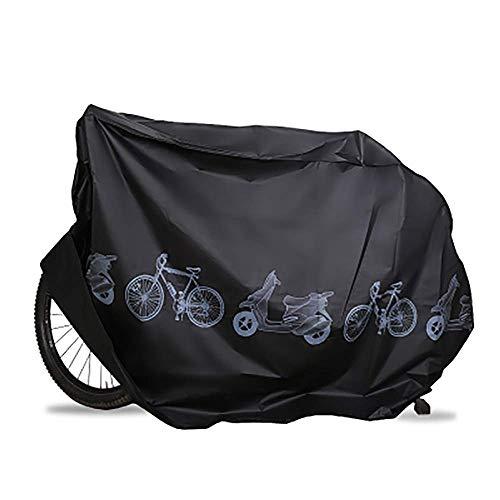 KLAS REMO Fahrradhüllen wasserdicht Fahrradabdeckung Fahrradschutz Hülle Fahrrad Cover Bike Anti-Staub Abdeckung Hülle für Fahrrad Mountainbike schwarz grau