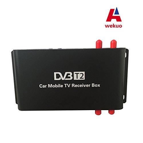 Wekuo 4antenna auto H.265DVB T2ricevitore TV box esterno USB DVB-T2Car TV digitale mobile...