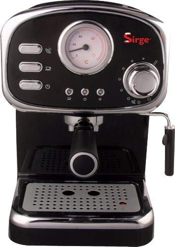 Sirge CREMILDA Caffè Retrò - Macchina per caffè espresso per polvere e cialda ESE, 15 bar [POMPA...