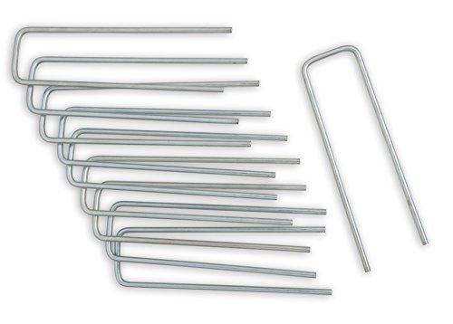 Windhager Metall-Heringe Erdanker Bodenanker Befestigungsanker Befestigungshering, verzinkt, 4x14cm x Ø 4mm, 10 Stück