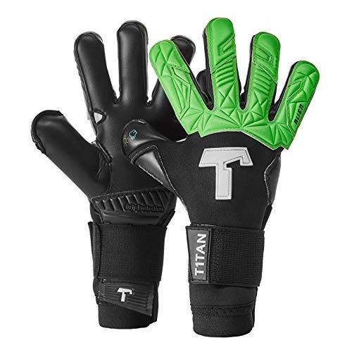 T1TAN Alien Black & Green Junior Guanti da Portiere Professionali - utilizzati in Serie A - Modelli...