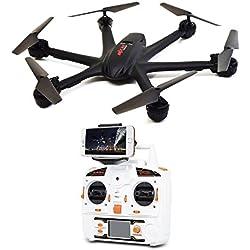 MJX X600C El más nuevo Hexacopter FPV Giro 3D 2.4GHz 6 Axis Modo sin mando y función de una tecla para retorno automático RC Drones con cámara de 0.3MP y protección de hélices para sistema iOS y Android