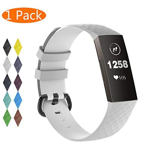 KingAcc Compatibile Fitbit Charge 3 Cinturini,Pacchetto Silicone Morbido Cinturino Sostitutivo per FitbitCharge 3,Fitness Cinturino da Polsino con Fibbia in Metallo