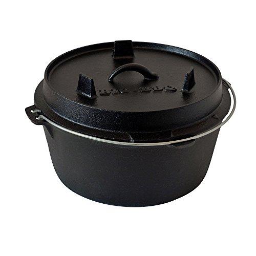 ToCis Big BBQ DO 9 Premium Dutch Oven | 12' Forno olandese in ghisa | pretrattato con olio di soia|...