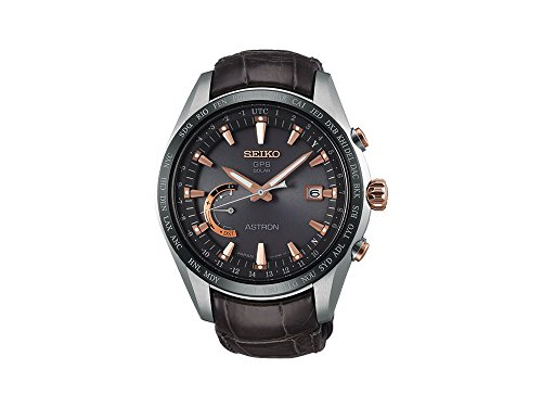 Seiko Herren-Armbanduhr Chronograph Quarz Leder SSE095J1