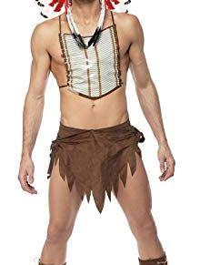 Smiffy's - Disfraz de indio para hombre, talla L (36241)