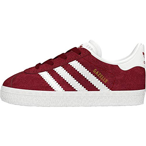 adidas Gazelle I, Pantofole Unisex-Bimbi, Rosso (Buruni/Ftwbla/Ftwbla 000), 19 EU