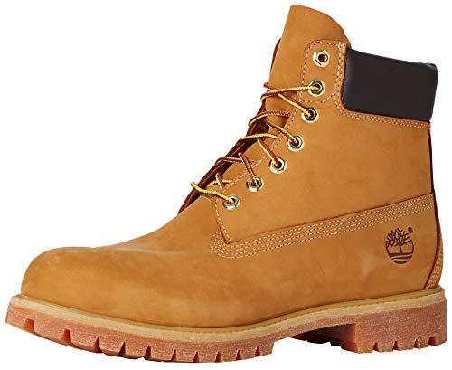 Timberland Herren 6 Inch Premium Stiefel, Gelb (Wheat Nubuck), 45 EU