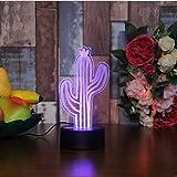 Lampara de Cactus LED 7 Colores Cambiantes