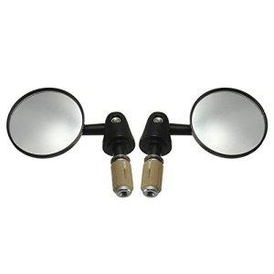 kkmoon Rückfahrkamera konvexe Seite Spiegel 1Paar Motorrad Bar End 7/20,3cm 22mm Außen Durchmesser Lenker drehbar Faltbare Runde Form Modified Zubehör 4