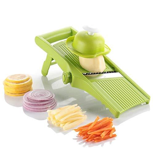 Máquina cortadora de verduras en rodajas ajustable Mandala Slicer Potato - Anillo de cebolla, papas fritas y papas fritas Wok ajustable - Picador de vegetales En espiral Cortadora de vegetales en roda