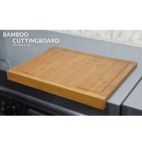 Tagliere da Cucina in Legno Bambu\' 45×35 cm per tagliare tritare ...