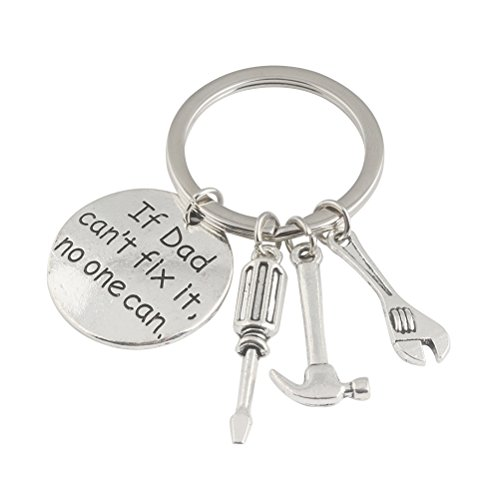 BESTOMZ Keychain Metal Keychain Regalo de cumpleaños de la novedad para los regalos del día de padre del papá