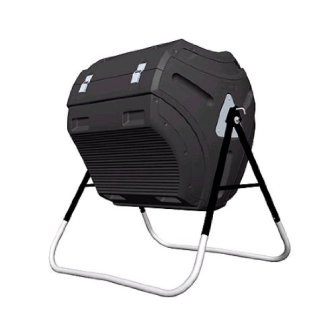 Lifetime 304 Litre (80 Gallon) Compost Tumbler - Black