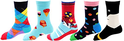 RC. ROYAL CLASS Full Length Soft Cotton Socks for Boys & Girls (RC-SNOOPY10-5, Multicoloured, pack of 5 pairs, 3-4 Yrs)