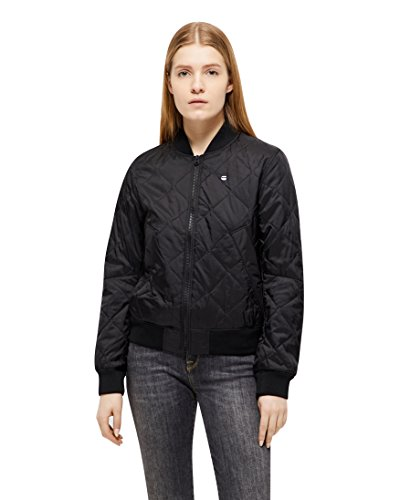 G-STAR RAW Deline Qlt Padded Slim Bomber Wmn Camicia, Nero (Black 990), Small Donna