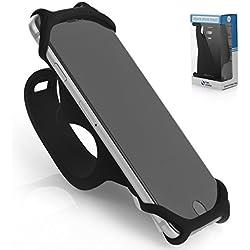 Premium Fahrrad Handyhalterung für Smartphones [ Größe M ] - für alle Fahrradlenker - Langlebiges Rutschfestes Silikon - Universal Befestigung für 99 % aller Smartphones - Sicher & Flexibel - SILICO