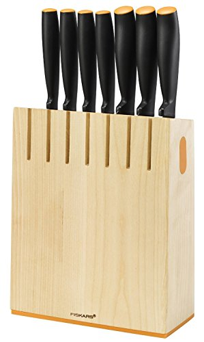 Design-Messerblock mit 7 Messern Fiskars, Birkenholz