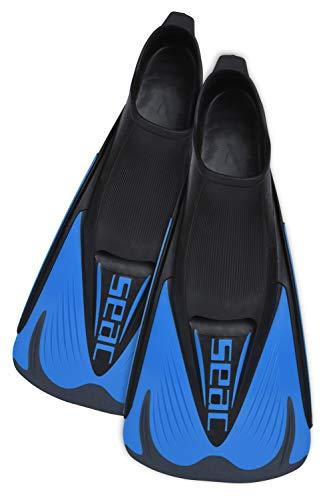 Seac Speed S, Pinne Corte da Nuoto per Allenamento in Piscina e in Mare Unisex Adulto, Blu/Nero, 38-39