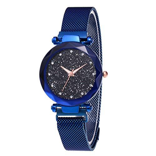 Orologi al quarzo analogico strass Starry Sky con cinturino magnetico a taglio a diamante Orologio...