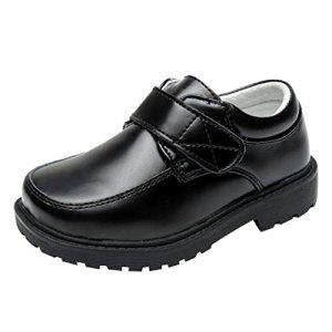 Junkai Kids Shoes – Black, Real Leather, School, Formal, Party, Dress Shoes for Boys Girls 41fNcvDtoCL