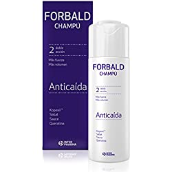 FORBALD – Champú anticaída cabello con vitaminas. Doble acción: fuerza y volumen del pelo. Estimula el crecimiento del cabello – 250 ml