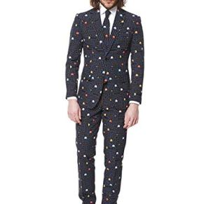 OppoSuits Prom Suits For Men – Pac-Man – Comes with Jacket, Pants and Tie In Funny Designs Traje de Hombres