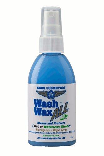 Waterless Car Wash Wax 4oz. Aircraft Quality Wash Wax for Your Car RV & Boat. Guaranteed Best Waterless Wash on The Market on Amazon U.S.
