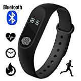 Fitness Tracker, IP67 wasserdichte Fitness-Armbanduhr, Smartwatch Pulsuhr Smart Watch Schrittzähler NINI