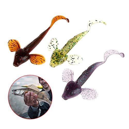 Cuigu 6Pz/Set Esche da Pesca Morbido Pesci Artificiali Pesca con la Mosca Jigging Swimbait 8cm 4.6g wobblers Crankbait Tackle Accessori, Colore Casuale