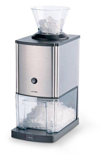Trebs 21114 tritaghiaccio in acciaio inox-design, 1 kg di ghiaccio al minuto, capacità 3 litri,...