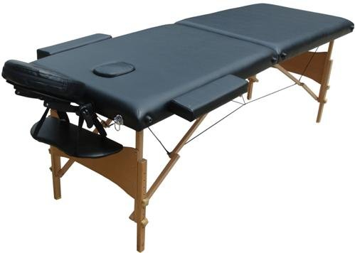 D&S Vertrieb Massageliege - Holz 2 Zonen