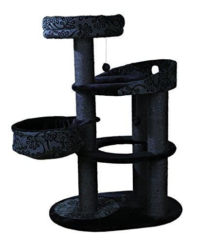 Trixie Arbre à chat Flippo, 114 cm, noir et gris anthracite