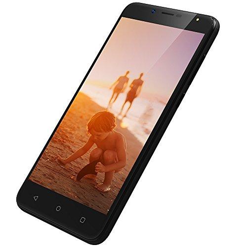 3G Smartphone Günstig ohne vertrag Dual SIM, 1GB+8GB, 5,5 Zoll Handy Android 7.0, 8MP+5MP Kamera, HD 1280 * 720 Bildschirm, Wieppo S6 Lite billigstes Smartphone GPS OTG WiFi Akku 2970mAh (Schwarz)