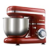 DOLPHINEGG Vielseitig einsetzbare Stand Mixer 1200W 4L Stainless Steel Bowl 6-Gang Kitchen Food Stand Mixer Cream Egg Whisk Blender Cake Harght Bread Mixer Maker Maschine