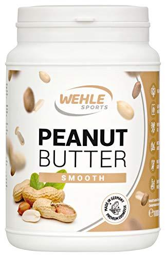 Burro di arachidi senza zucchero senza additivi naturali come burro di arachidi, crema di arachidi sale, olio o olio di palma, Wehle Sports burro di arachidi naturale Peanut Butter 1000g (1kg) (Smooth (Cremoso))