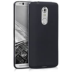 kwmobile Funda para ZTE Axon 7 Mini - Carcasa para móvil en [TPU Silicona] - Protector [Trasero] en [Negro Mate]