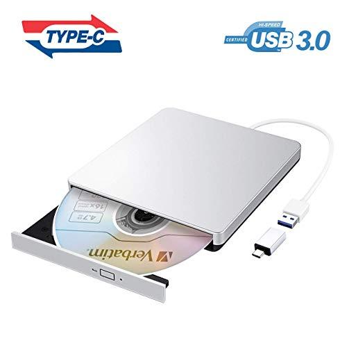 VicTsing Masterizzatore CD DVD Esterno USB 3.0, Lettore CD Esterno per PC Portatile con Adattatore...