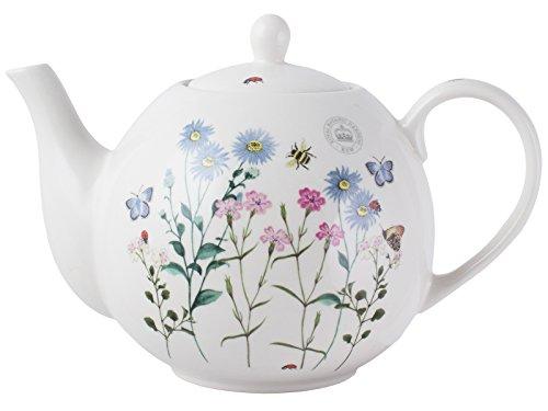 Tetera de Royal Botanical Gardens, cerámica, Beige, 6 Cup Teapot