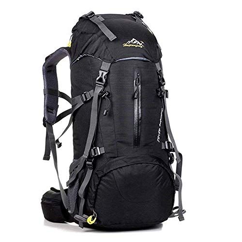 Mochila de senderismo para exteriores, 50 L, ergonómica, impermeable, para viajes, camping, senderismo, senderismo, mochila impermeable con cubierta para la lluvia