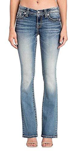 Miss Me - M3332B Chloe Boot Cut Jeans für Damen, 27, Denim