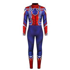 WSJ Disfraces de Halloween para Hombres, Spiderman de impresión Digital 3D para Hombres con impresión en la Espalda - Traje Sexy Mono Casual Masculino para Desfile y Rendimiento,A,XL