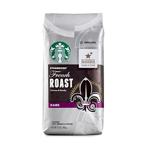 Starbucks French Roast ground coffee (a smoky coffee with aromas of spices and tobacco)