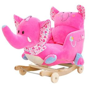 Música para niños Rocking Horse Toy Trojan Baby Silla Mecedora de Madera Maciza Coche Bebé Bebé Regalo 60 * 28 * 60 cm Xuan - Worth Having (Color : B)