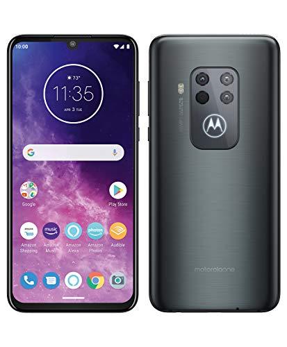 """Motorola One Zoom con Alexa Hands-Free (Pantalla 6,4"""" FHD+, Sistema de 4 cámaras, 128 GB/4 GB, Android 9.0, Dual SIM) Color Gris Eléctrico + Auriculares + Funda"""