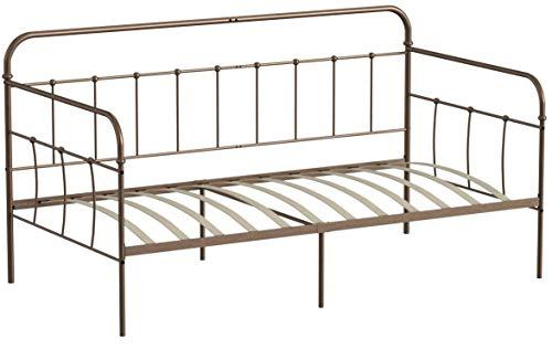 Aingoo Letto Singolo Divano Letto in Metallo Antico a Forma di Tubo Solid Day Bed con doghe in Legno...