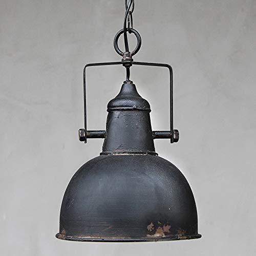 Chic Antique Vintage Lampe Rost Factory Industrielampe Deko Wohnzimmer Schwarz Metall patiniert E27 Hängeleuchte Retro Deckenlampe Esszimmer Industriedesign