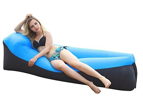 Wasserdichtes Aufblasbares Sofa -Aufblasbares Outdoor Liege Luftsofa Integriertem Kissen, Tragbarer Aufblasbarer Sitzsack, Aufblasbare Couch für Reisen, Camping, Strand, Park, Backyard