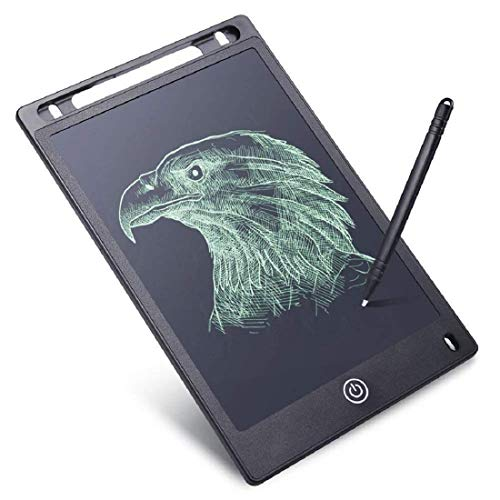 Tern 8.5 Inch LCD Writing Board Slate for Kids Office School Drawing Record Notes Tablet Handwriting Pad Paperless Graphic Tablets Pen for Office and Kids - Set of 1 Multi Colour (Black)